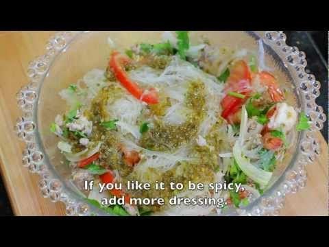ยำวุ้นเส้น Yum Woon Sen - YouTube | Asian dishes ...