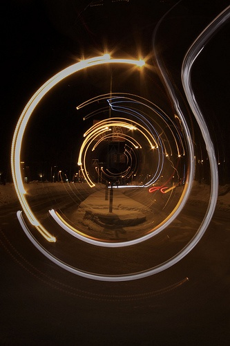 round light trails