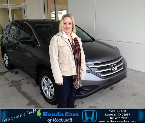 Thank you to Angela Jones on your new 2014 #Honda #Cr-V from Doug Hogue and everyone at Honda Cars of Rockwall! #NewCar