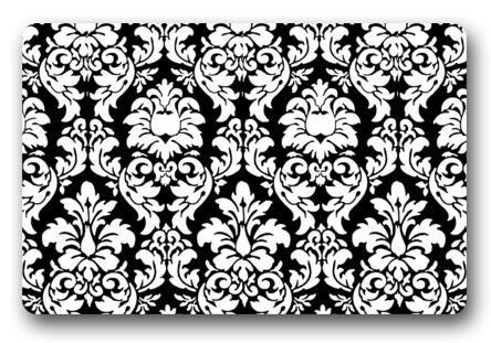 Custom 3D Doormat Black And White Floral Carpet Bedroom Flowers Rugs Bathroom Doorway Mats Funny Lounge Cushion Decor #D-241#