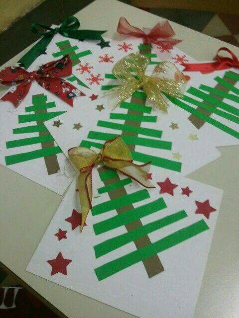 Paper Christmas tree craft