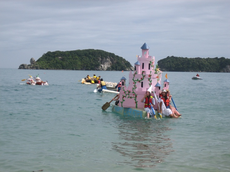 Annual Tata Cardboard Boat Race Best Prize Is For Most Dramatic Sinking