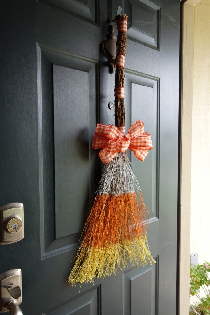 Candy Corn Cinnamon Broom. DIY tutorial with pictures.