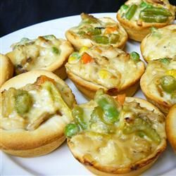 """Pot Pie Cupcakes 
