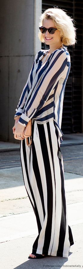 Virginia decided that stripes were tres elegante after her extended stay at a women's facility.