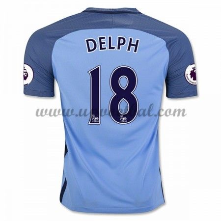 Manchester City 2016-17 Delph 18 Thuis Tenue Goedkope Voetbalshirts Clubs
