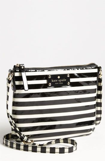 kate spade new york 'stripe nylon tenley' crossbody bag available at #Nordstrom