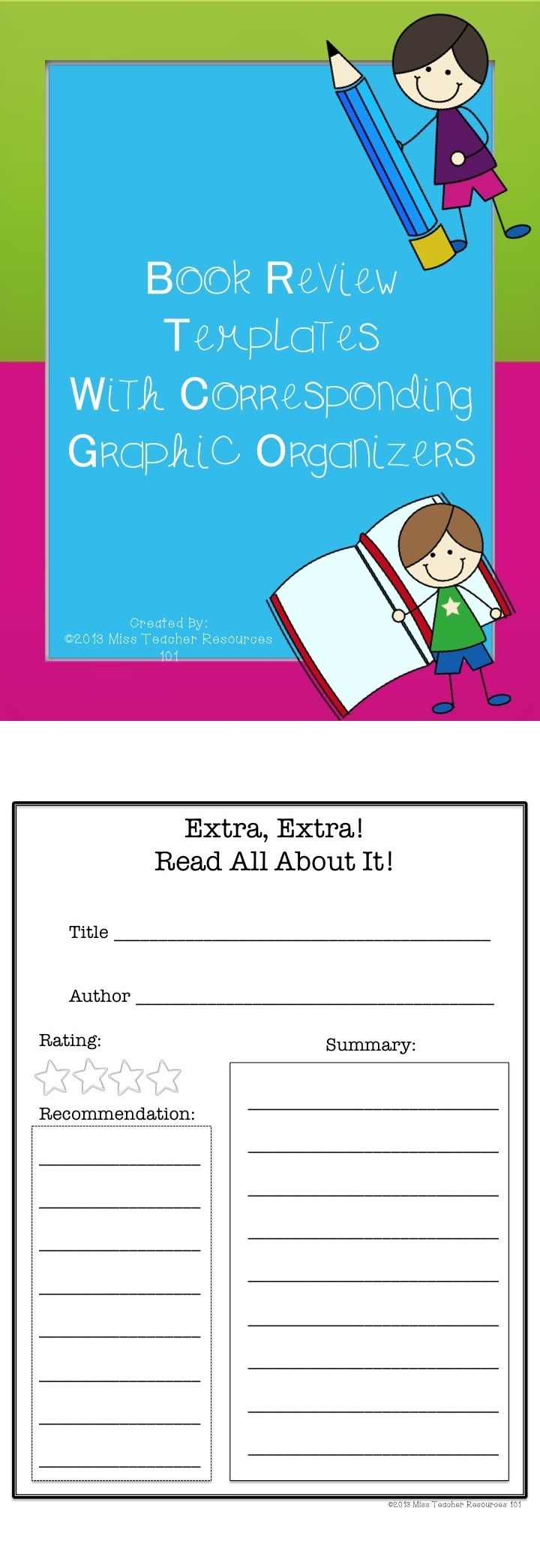 17 best ideas about book review template book week this is for 6 various book review templates to choose from graphic organizers