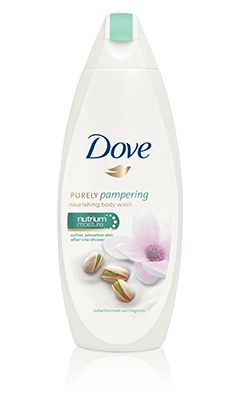 Get softer, smoother skin after just one shower* with Dove Purely Pampering Pistachio Cream with Magnolia Body Wash.