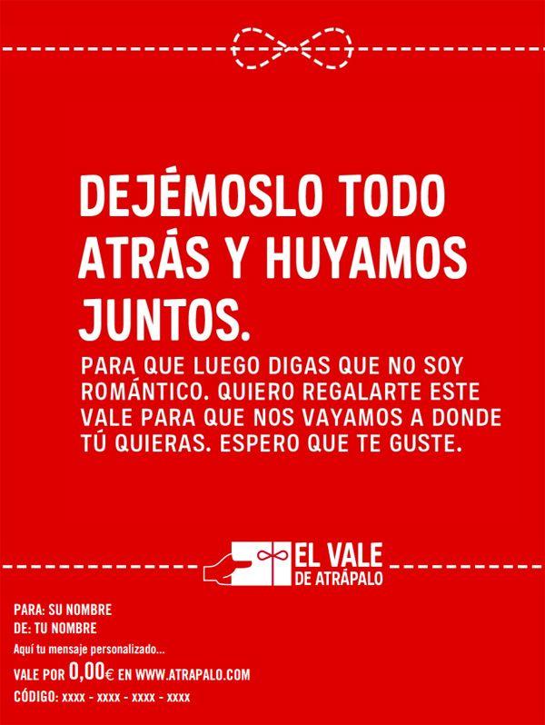 Frases De Amor Regalos San Valentin Vales Atrapalo Ideas De Amor