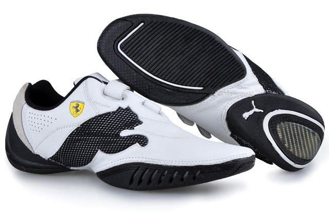 6446bcc606e1 Puma Leather Ferrari Shoes White Black in 2019
