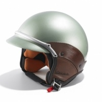 Obvious, Vintage green vespa helmet