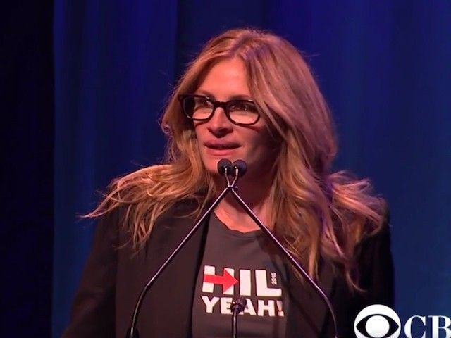 Watch: Julia Roberts Repeatedly Drops F-bomb at Broadway for Hillary Fundraiser