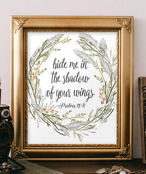 Bible Verse wall art printable Scripture by TwoBrushesDesigns