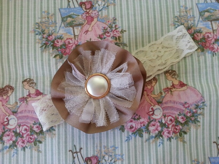 Vintage style headband from Little Jade Little Paige. Like us on Facebook