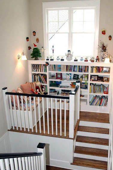 踊り場や階段室って、何を置くのかな。覗いてみよう。みんなの階段