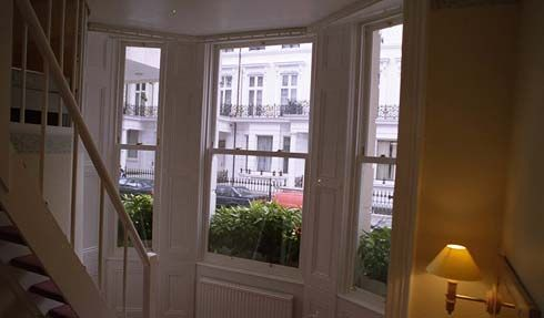 Amsterdam Hotel. Timber sash windows.