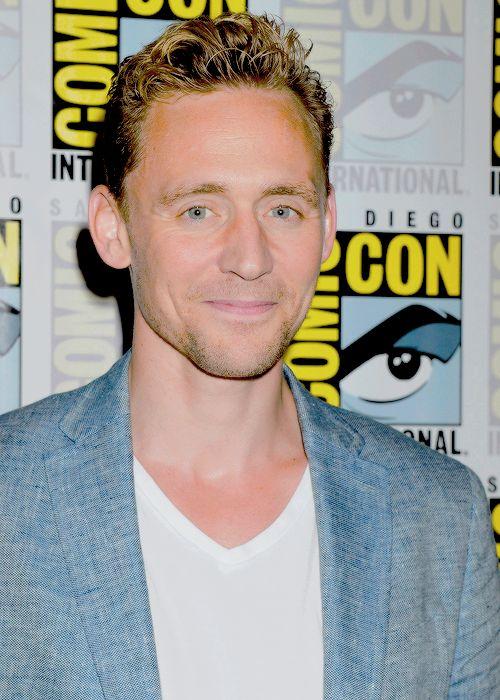 Tom Hiddleston attending the San Diego Comic Con 'Crimson Peak' Press Line  on July 11, 2015