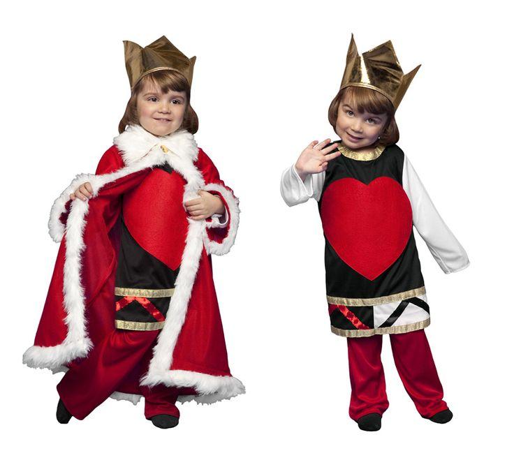 Disfraz de Rey o Reina de Corazones de niños 3 a 4 años | Disfrazzes | Tienda de disfraces online