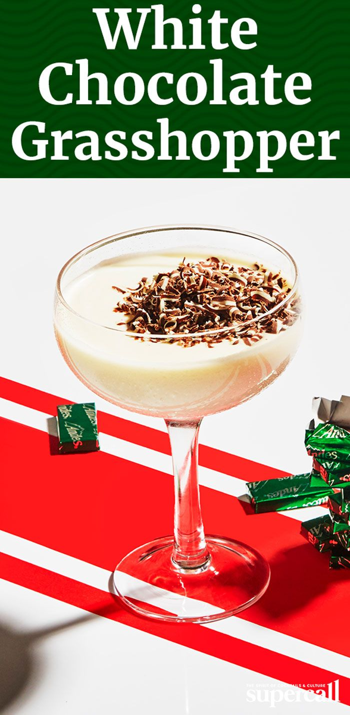 We gave the classic Grasshopper a white Christmas makeover. Swapping out bright green crème de menthe for clear peppermint schnapps leaves you with a creamy, snowy-white sipper.