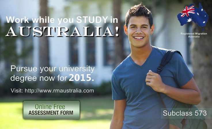 The subclass 573 visa is designed for students wishing to undertake an Australian Bachelor's degree, graduate certificate, Higher education graduate diploma, Higher Education advanced diploma, graduate diploma, graduate certificate associate degree and Masters by coursework. This visa can allow you to work while you study. Contact us today to find out how!