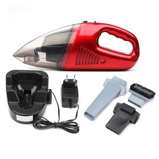 Free shipping world wide 60W Coredless Handheld Home Car Vacuum Cleaner Wet/Dry Duster Dirt Collector