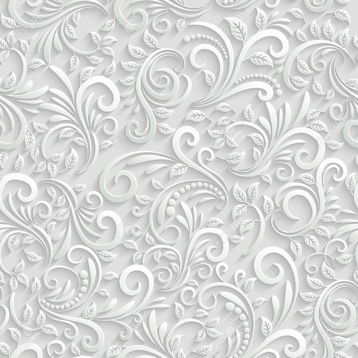 Pinterest Wallpaper Quotes 34229728 Floral 3d Seamless Background Stock Vector