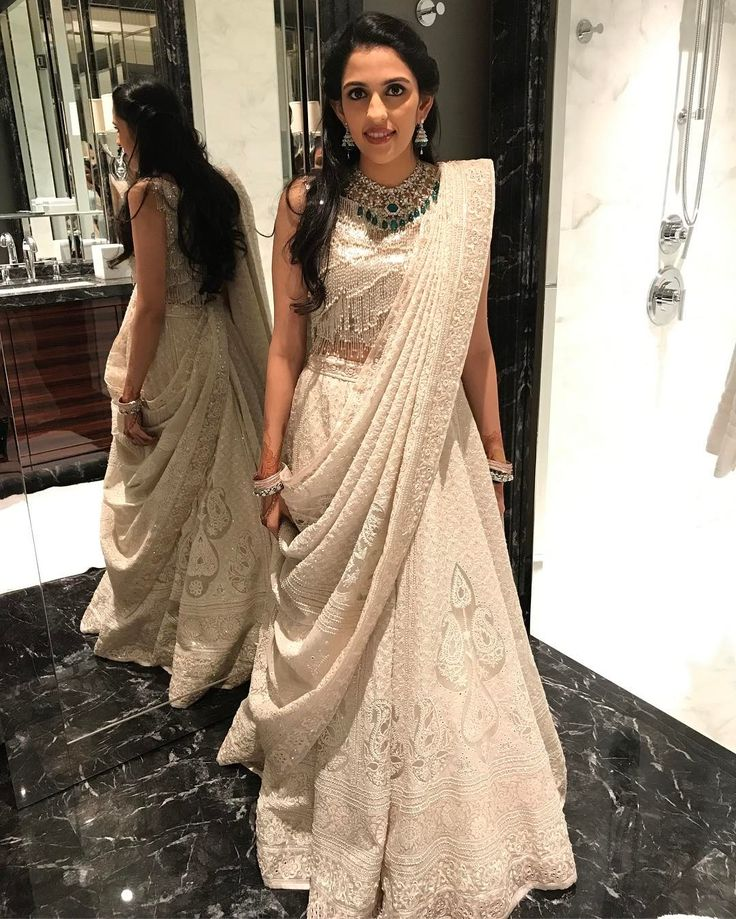 "58 Likes, 2 Comments - Dolly Jain (@dolly.jain) on Instagram: ""Shloka Mehta #abujani #abusandeep #abujanisandeepkhosla #sandeepkhosla #dollyjain #drape…"""