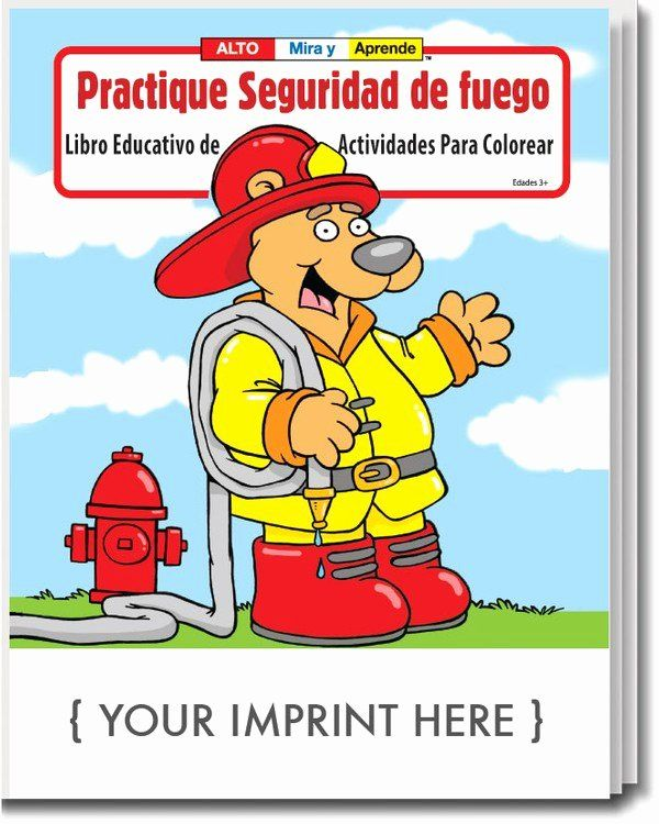 Coloring Book In Spanish Inspirational Coloring Book Practice Fire Safety Spanish Coloring Activit In 2020 Anti Stress Coloring Book Coloring Book Set Coloring Books