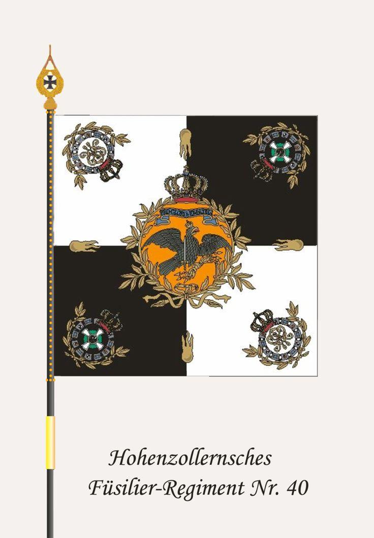 "Fahne Hohenzollern-Fue 40 - Füsilier-Regiment ""Fürst Karl-Anton von Hohenzollern"" (Hohenzollernsches) Nr. 40 – Wikipedia"