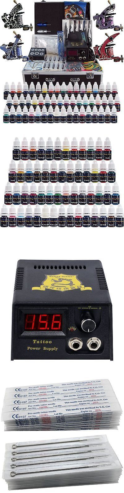 Tattoo Complete Kits: Solong Tattoo Complete Tattoo Kit 4 Pro Machine Guns 54 Inks Power Supply... New -> BUY IT NOW ONLY: $100 on eBay!