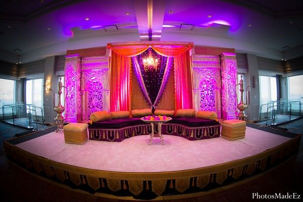 jersey city nj indian wedding by photosmadeez celebrations wedding stage and mehndi decor. Black Bedroom Furniture Sets. Home Design Ideas