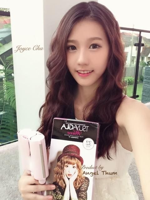 Love this hairstyle very much! it's called Tsuyagla Wave '32mm, 26mm' and btw she is joyce chu~ so pretty!!!