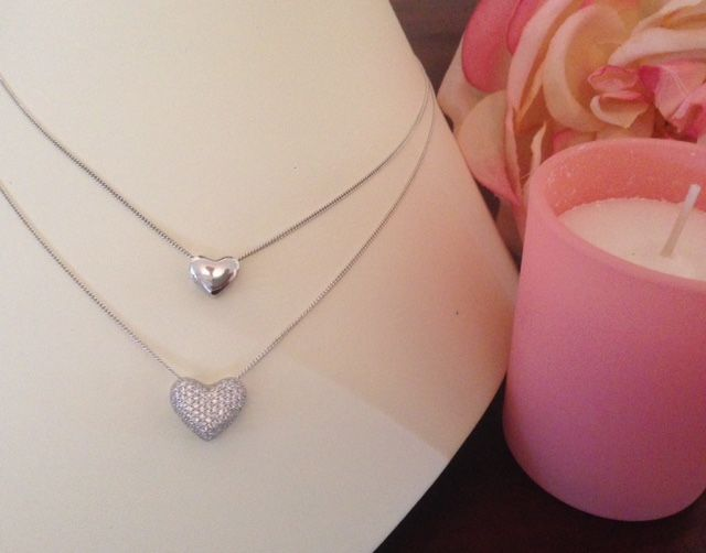 Double hearts. Sterling silver pendants. Versatile to wear. Share with a loved one. Mother and daughter. Best friends. Aunty and niece. Sisters.