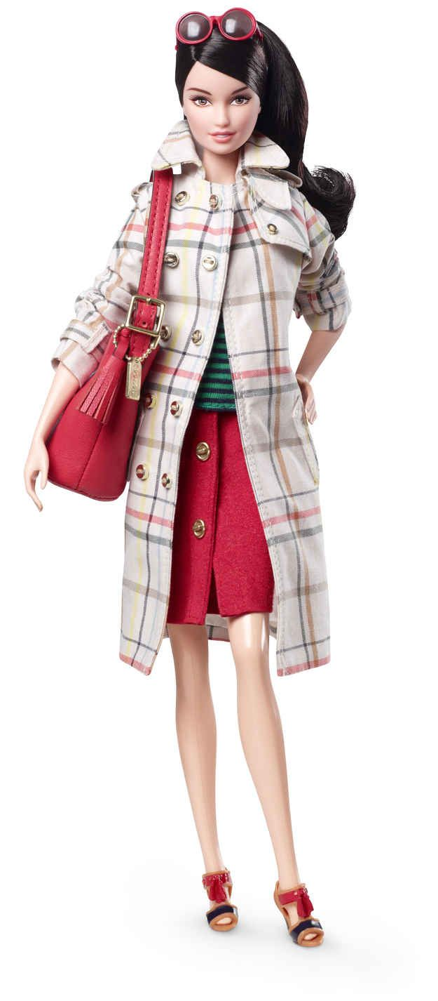 Meet Coach Barbie, retailing for $95 and styled head-to-toe in Coach merchandise.