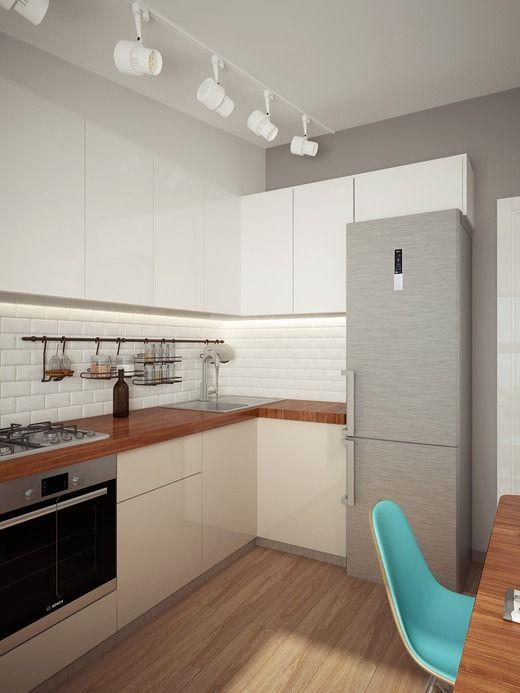 Светлая кухня в скандинавском стиле. Кухня