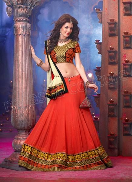Respllendent New Collection of Party Wear Lehnga Choli 2015