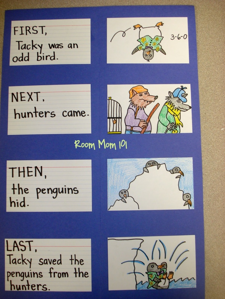 Room Mom 101: Tacky the Penguin Sequencing Activity