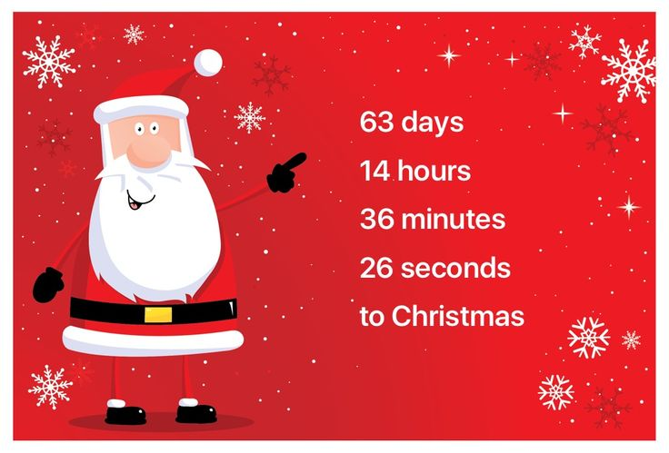 I'm counting days to Christmas using this Christmas Countdown app: http://itunes.apple.com/app/id1091279475