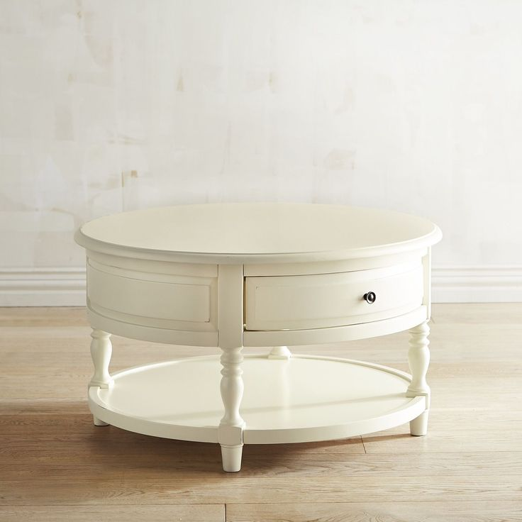 Anywhere Antique White Round Coffee Table