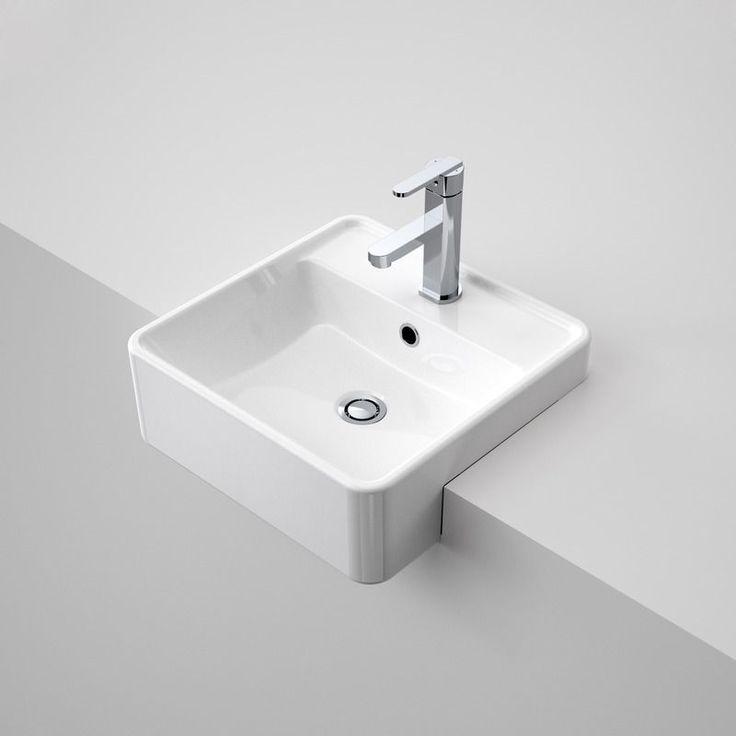 Carboni II Semi Recessed Basin  http://www.caroma.com.au/bathrooms/basins/carboni/carboni-ii-semi-recessed-basin