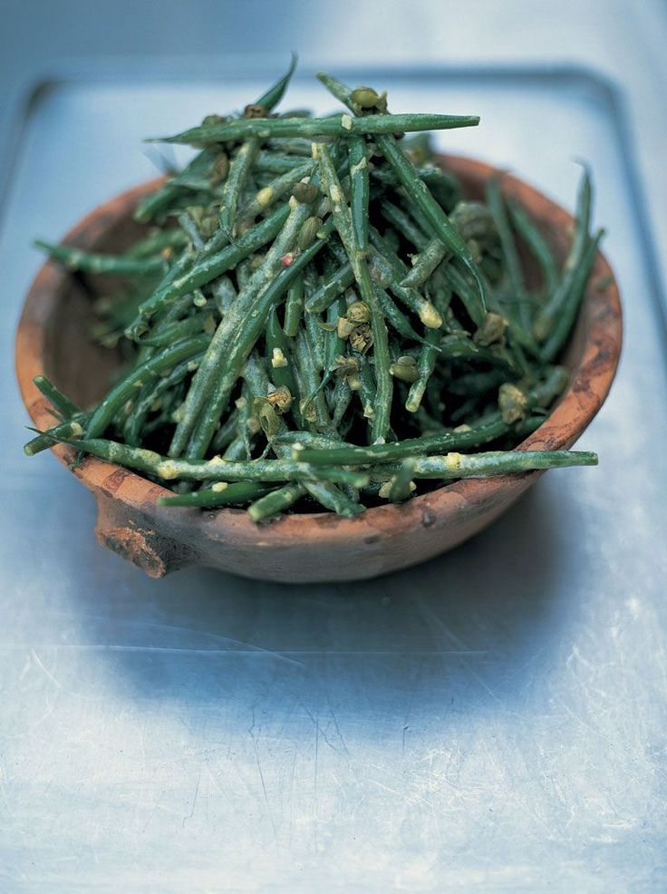 good old french bean salad | Jamie Oliver Made this last night. Delicious.