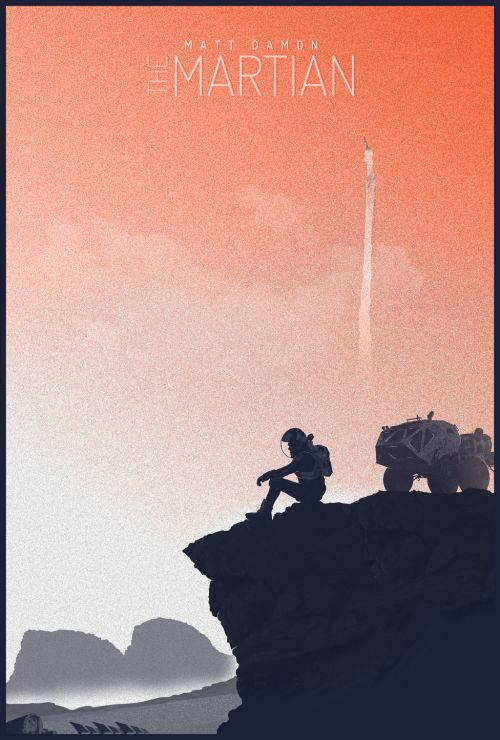 The Martian Movie Poster - Felix Tindall