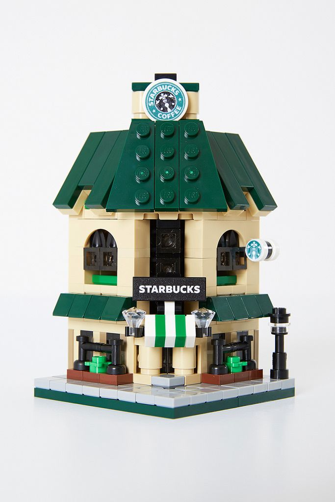 https://flic.kr/p/BJeUEK | Lego Starbucks Cafe Mini Modular | Minimalbrick 01th minimal project.   Starbucks Cafe Mini Modular ver_너굴님.  Total 303 parts. You can see at Lego ideas's website.  ideas.lego.com/projects/79922/updates Thanks for visit & vote.                                                                                                                                                                                 More