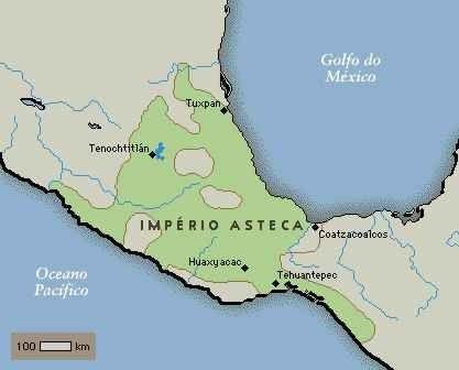Mapa do Império Asteca - História do Mapa do Império Asteca - História do mundo