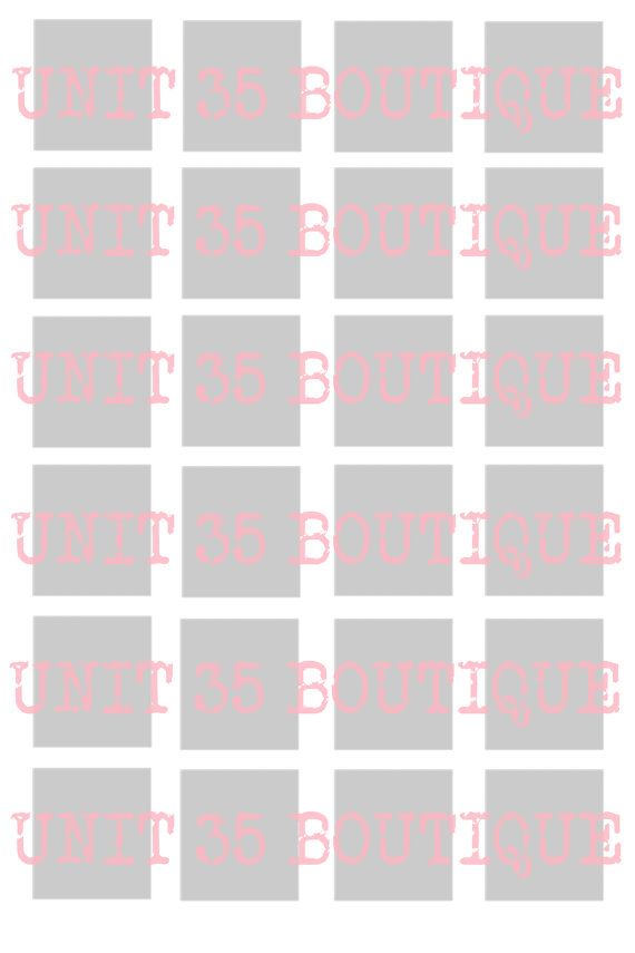 Blank 4x6 inch scrabble tile collage sheet template 24 for Blank scrabble board template