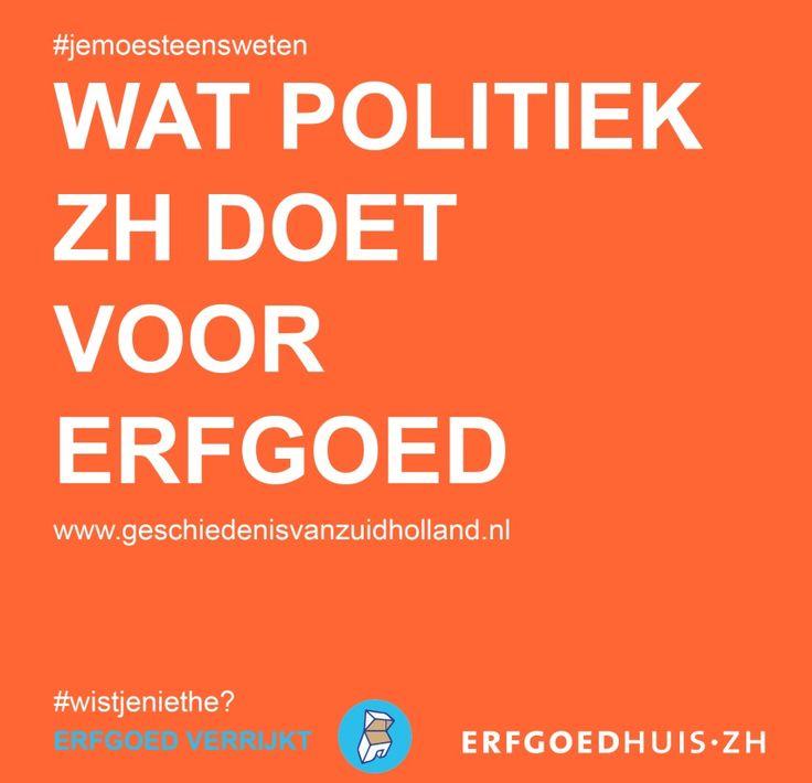 We hebben de verkiezingsprogramma's voor je op een rij gezet: http://www.geschiedenisvanzuidholland.nl/verhalen/erfgoed-verrijkt