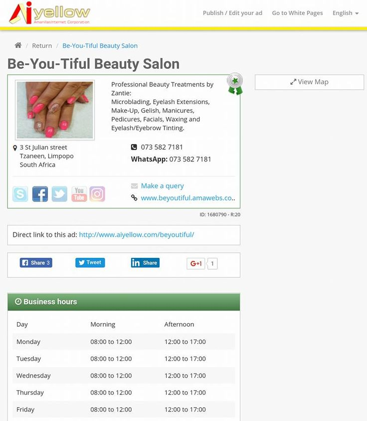 Your NR 1 UPDATED online Business Directory AiYellow! http://www.aiyellow.com Nail Salon ideas