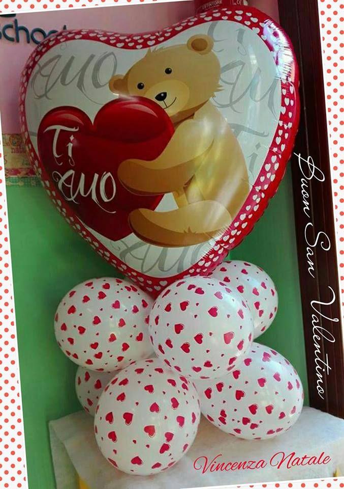 san valentino con palloncini