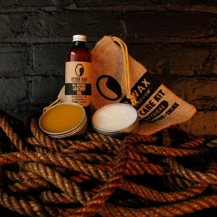 slick otter wax leather care kit, always a great man-gift